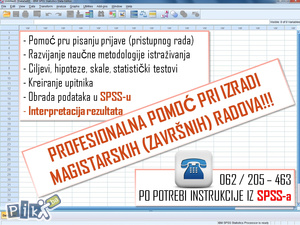 Magistarski radovi - (SPSS i STATA obrada podataka)