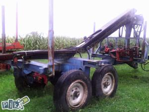 Prikolica za traktor sa kranom-dizalicom
