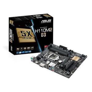 ASUS H110M2 D3 DDR3 Novo!!!