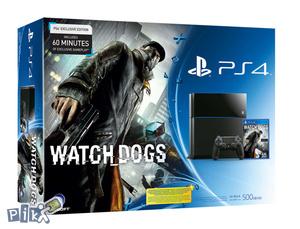 Sony Playstation 4 + Watch Dogs * Bundle *Na Stanju*