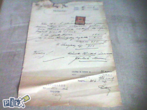 Dokument 1. ; Namira - Sarajevo, 1916. god. ; RARITET