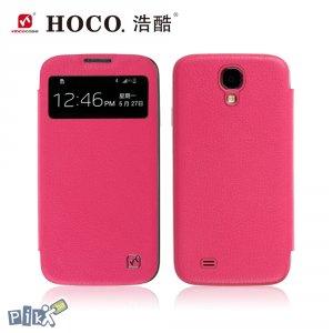 HOCO Original View kožna futrola za Galaxy S4 pink