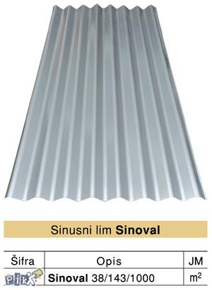 Sinusno profilisani lim SINOVAL 38/1000