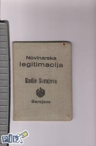 Novinarska legitimacija zaposlenika RADIO SARAJEVO
