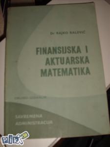 Finansijska i aktuarska matematika / ekonomija