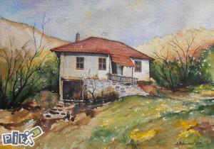 Slika ''Stara kuca'' - AKVAREL
