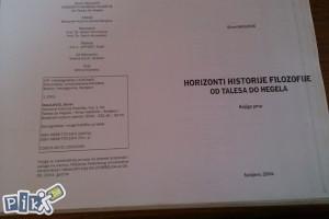 Horizonti historije filozofije /od Talesa do Hegela/