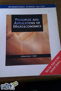 Principles and applications of microekonomics/ekonomija