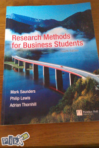 Research methods for business students / ekonomija