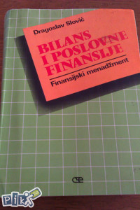 Bilans i poslovne finansije / ekonomija