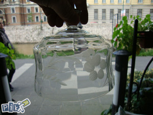 Kristalno zvono poklopac za maslac