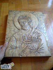 Ikona u duborezu Apostol Luka - RUČNI RAD