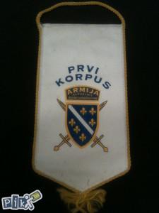 Zastavica Armije RBIH PRVI KORPUS-ORGINALANA RATNA