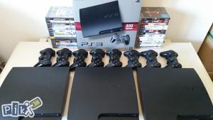 SONY PLAYSTATiON 3 + 2 JOYSTICKA + IGRA GTA 5 PS3
