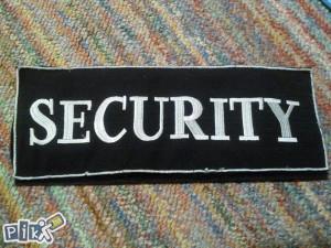 Prišivka SECURITY za leđa