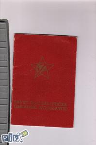 Savez socijalisticke omladine clanska karta