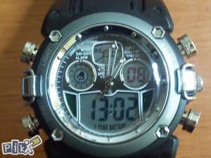 Sat muški, ručni, digitalno-analogni, (SIVI-1)