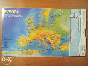 Auto Karta Evrope Sa Daljinarom I Kalendar 1583 4915 Literatura