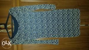Plavo-šlingana haljina
